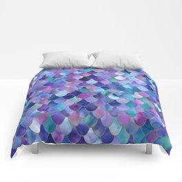 Mermaid Gems, Purple, Pink, Teal, Blue, Green Comforters