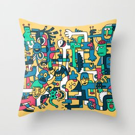 Silly King Throw Pillow