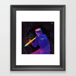 The Addiction To Pencil Framed Art Print
