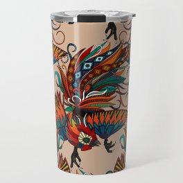 rooster ink beige Travel Mug