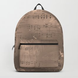 Sheet Music - Mixed Media Partiture #2 Backpack