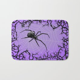 Briar Web- Purple Bath Mat
