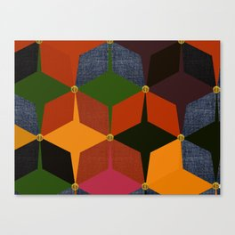 KALEIDOSCOPE 05 #HARLEQUIN Canvas Print