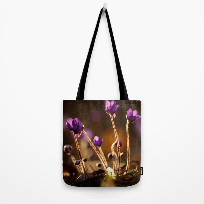 Hepaticas in The Glare Of The Sun #decor #society6 Tote Bag