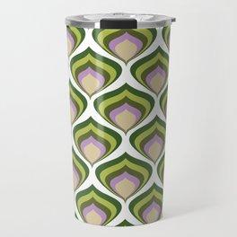 1970s retro avocado wallpaper Travel Mug