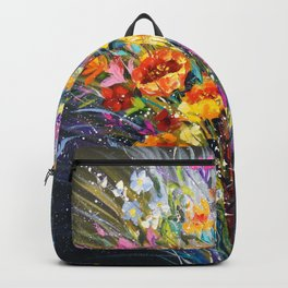 Bouquet of flowers for happiness Backpack