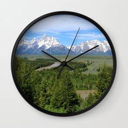 Snake River And The Grand Tetons Wall Clock