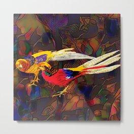 Pheasants Metal Print