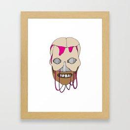 Skull Head Street Art Design Framed Art Print