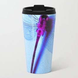 Iridescent Dragon Fly - Digital Photography Art Travel Mug