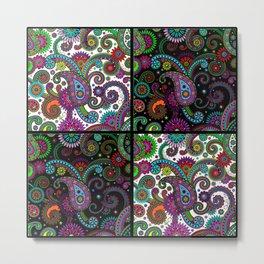 Paisley Panels Metal Print