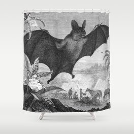 Vampire Bat Shower Curtain