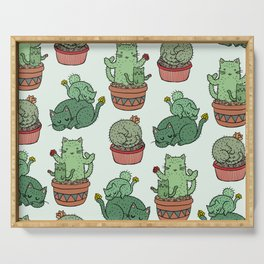 Cacti Cat pattern Serving Tray