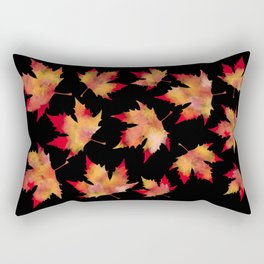 Maple leaves black Rectangular Pillow