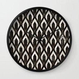 Art Deco Marble Pattern Wall Clock