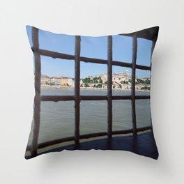 Budapest Grid Throw Pillow