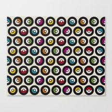 Dancing vinyls Canvas Print