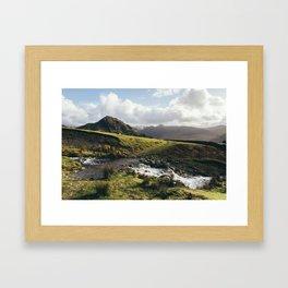 Cinderdale Beck flowing below Whiteless Pike towards Crummock Water. Cumbria, UK. Framed Art Print