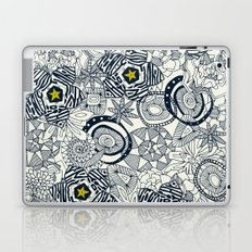 succulents ivory chartreuse star Laptop & iPad Skin
