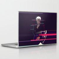 david lynch Laptop & iPad Skins featuring David Lynch - Glitch art by FourteenLab