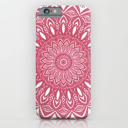 Red Wine Color Mandala Minimal Minimalistic Simple (Yet Bold) iPhone Case