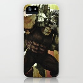 hulk v.s. juggernaut iPhone Case
