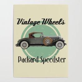 Vintage Wheels - Packard Boattail Speedster Poster