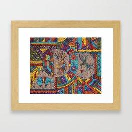 Southwestern Sampler Framed Art Print