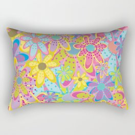 Flowers Print Rectangular Pillow