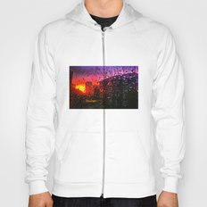 Sunset through water droplets Hoody