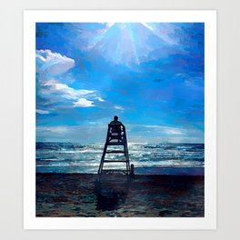 The coastguard Art Print
