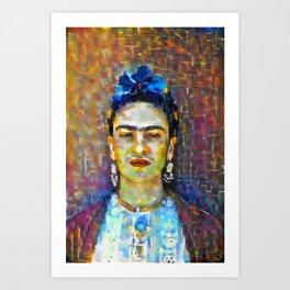 Frida Kahlo #1 by Kulture Bang Art Print