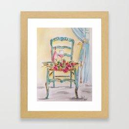 Rosé and Roses Framed Art Print