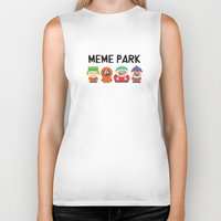 meme Biker Tanks featuring Meme Park by Milan Harangozó