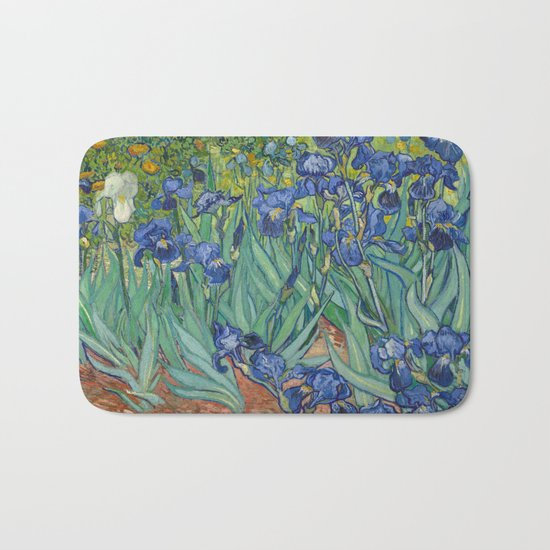 Irises by Vincent van Gogh Bath Mat