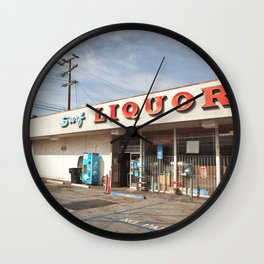 Liquor Store Santa Monica Wall Clock