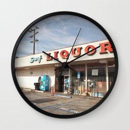 Liquor Store Santa Monica Wall Clock