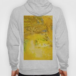 Golden - Abstract Mixed-Media Painting Hoody
