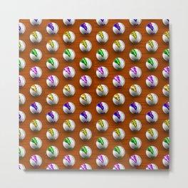 Marbles on Wood Pattern Metal Print