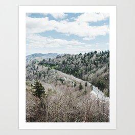 Blue Ridge Mountains Winter - North Carolina Art Print