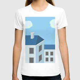 Blue roofs T-shirt