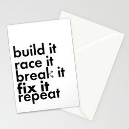 Project Car Racing Life Cycle Novelty Pride Stationery Cards