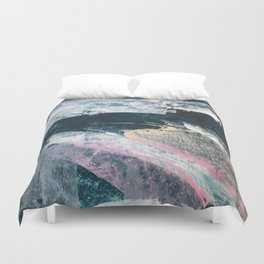 3 AM: a minimal, abstract piece in blue, pinks, and white by Alyssa Hamilton Art Duvet Cover