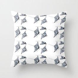Manta ray devil fish Throw Pillow