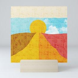 Grunge Colorful Sunrise - I Am More Than What You See Mini Art Print