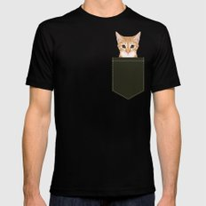 Chase - Cute Cat gifts for pet lovers cat lady gifts and perfect gifts for cat person and cute tabby Black Mens Fitted Tee MEDIUM