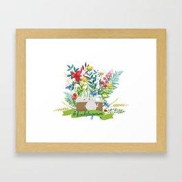 #bookstagram In Bloom Framed Art Print