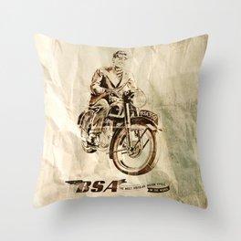 BSA - Vintage Poster Throw Pillow