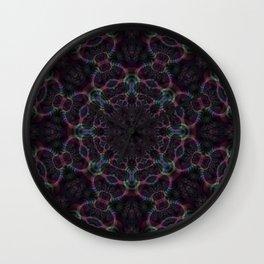 Branching Rainbow Fractal Kaleidoscope 2 Wall Clock