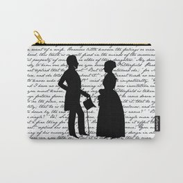 Pride and Prejudice design - White Carry-All Pouch